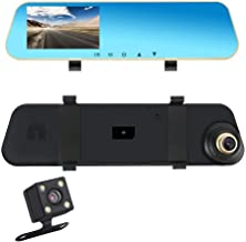 Eagle Eye Car Dash Cam Rear View Mirror Dual Lens Front and Rear Camera Backup Reverse Camera Parking Assistant 4.3