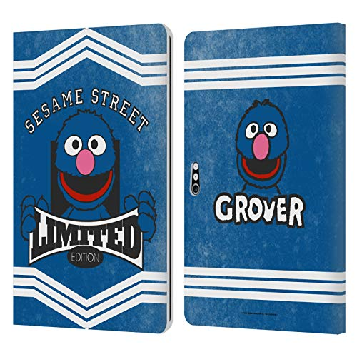 Head Case Designs Officially Licensed Sesame Street Grover Vintage Nostalgia Leather Book Wallet Case Cover Compatible with Microsoft Surface Pro 4/5/6