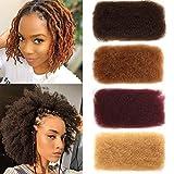 FASHION IDOL Afro Kinkys Bulk Human Hair 3 Packs 10 Inches HONEY BLOND...