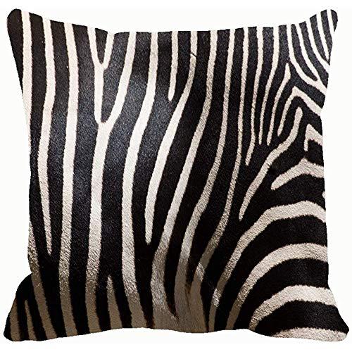 Closeup rayas en piel de cebra Animales Vida salvaje Naturaleza Fundas de almohada Fundas de cojín Fundas de almohada Sofás Decoración para el hogar 45X45Cm