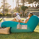 Wise Owl Outfitters Inflatable Lounger Air Hammock Sofa by – Large Waterproof Pool or River Float - Indoor or Outdoor Adjustable Hangout Chair Seat for Camping - Teal & Ash
