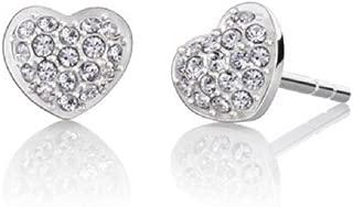 Sterling Silver Swarovski Petite Heart Stud Earrings
