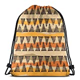 Jhonangel Bolso étnico Tribal con cordón para niños y niñas Bolsas de Gimnasio 36 x 43 cm / 14,2 x 16,9 Pulgadas