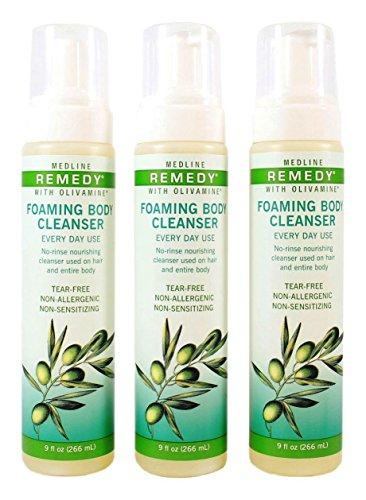 Remedy Olivamine Foaming Body Cleanser - 9 ounce - Pack of 3 bottles