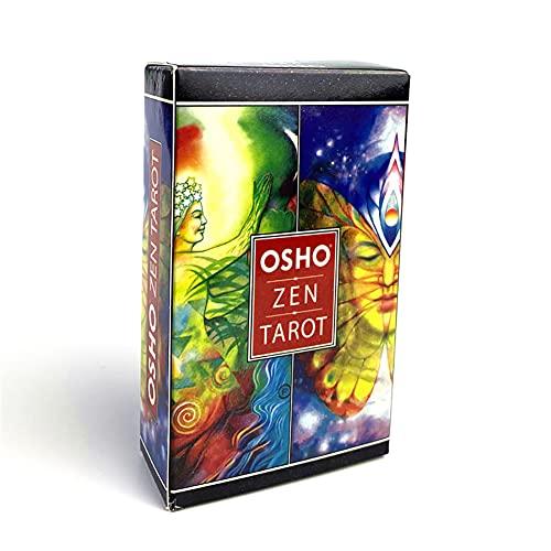 Osho Zen Tarot Card Tarjeta de Juego Inglés Divinación Tarot Tarot Familia Familia Partido Juego de Tarjetas Juego de Mesa para Uso Personal