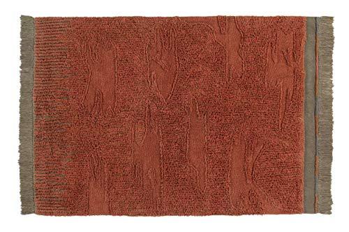 Lorena Canals - Alfombra Lavable WOOLABLE Naranguru - Cinnamon, Arabesque, Charcoal, Almond Frost, Soil Brown - Pila: 100% Lana. Base: 97% algodón, 3% Otras Fibras - 170x240 cm
