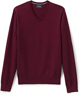 Lands' End Men's Classic Fit Fine Gauge Supima Cotton V-Neck Sweater