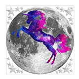 Brillante luna unicornio niños habitación dormitorio sala de estar fondo decorativo pared pegatina 30CM x 30CM