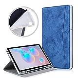 Xuanbeier Funda Blando de TPU Compatible con Samsung Galaxy Tab S6 Lite 10.4 Pulgadas SM-P610 / P615 Soporte para Lápiz Incorporado,Estuche con Función de Reposo/Activación Automática,Azul