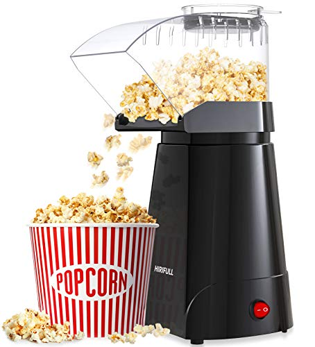 HIRIFULL Hot Air Popcorn Machine, Household Popcorn Maker, 1200W Electric Popcorn Popper, No Oil,...