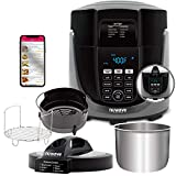 NUWAVE DUET Pressure Cook and Air Fryer Combo Cook; Stainless Steel Pot & Rack; Non-Stick Air Fryer...
