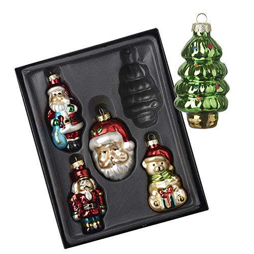 Heaven Sends Traditional Style Character Christmas Tree Decorations - Set of 5