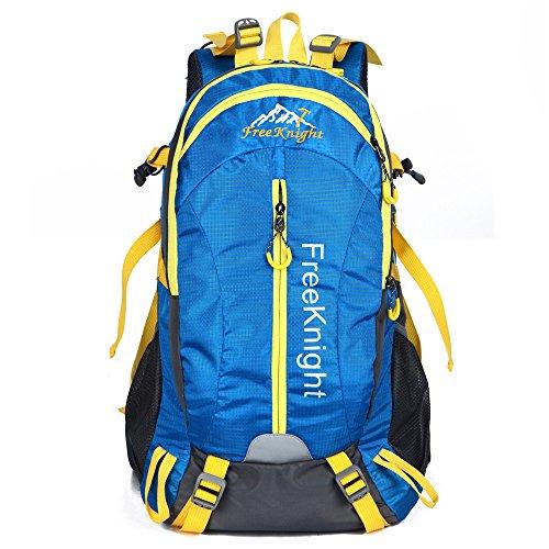 40L grande volume moda in nylon impermeabile outdoor trekking sport tempo libero uomini e donne zaino da viaggio , blue