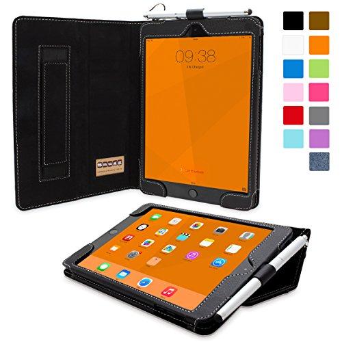 iPad Mini 3 Case, Snugg - Smart Cover with Kick Stand & (Black Leather) for Apple iPad Mini 3 (2014)