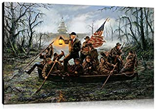Artwu Trump,Crossing,The Swamp Wall Art Home Wall Decorations for Bedroom Living Room Oil Paintings Canvas Prints 24x36inch-714