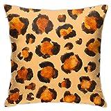 Throw Pillow Cover Case Acuarela Animal Cheetah Leopard Print Funda de Almohada Decorativa 45cmx45cm Funda de cojín para sofá de Cama