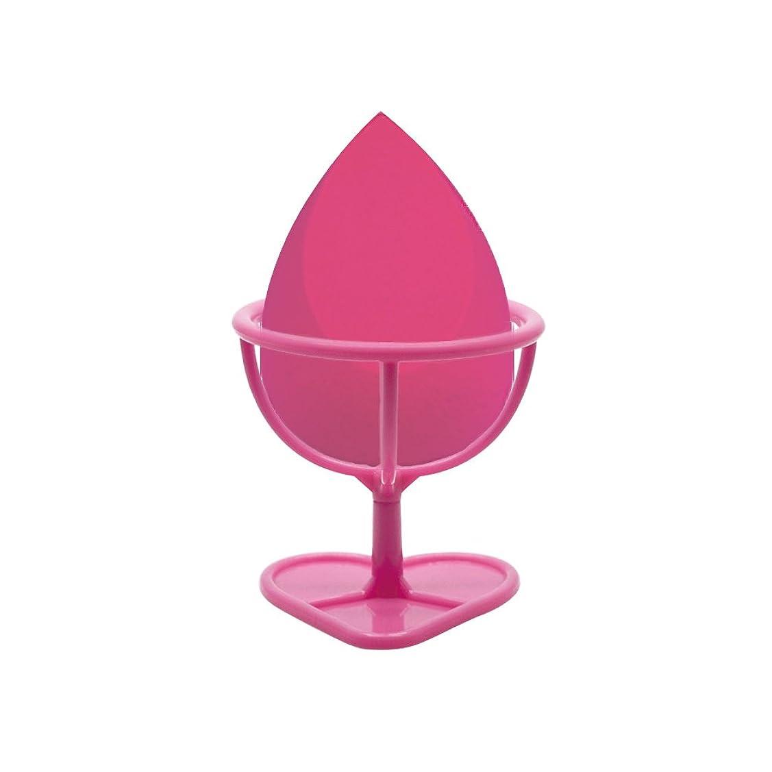 パンチ急速な達成可能Heybeauty メイクスポンジ 斜めカット?卵型 化粧パフ ボックス付き パフ乾燥用スタンド付き ローズレッド