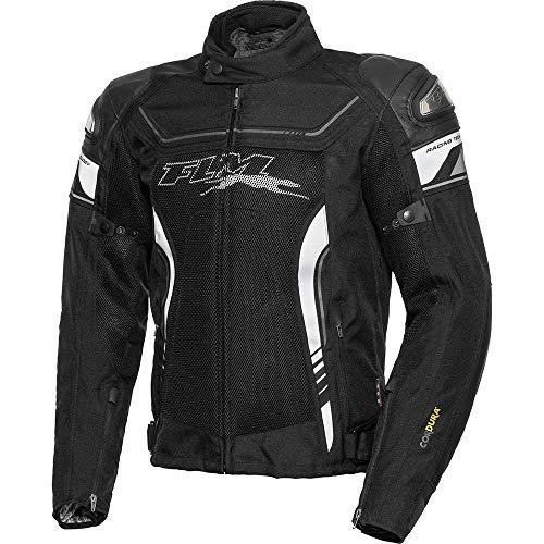 FLM Motorradjacke mit Protektoren Motorrad Jacke Sports Leder-/Textiljacke 3.1 schwarz 3XL, Herren, Sportler, Ganzjährig