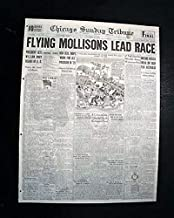 MACROBERTSON AIR RACE London to Melbourne Airplane w/Mollisons 1934 Newspaper CHICAGO SUNDAY TRIBUNE, October 21, 1934
