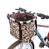 VPPV Cesta Delantera de Bicicleta, Ajustable Cestas Impermeables Accesorio de Bicicleta Cesta Plegable para Bici Liberación Rápida Instalación Fácil