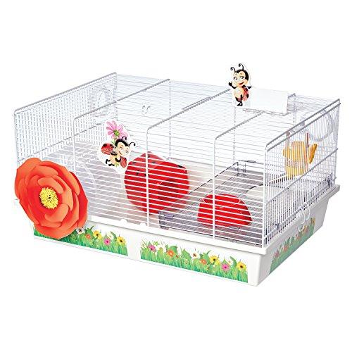 【アメリカMIDWEST】小動物ケージ アメリカミッドウエスト社ハムスターケージ Critterville Ladybug Hamster Home WhiteRed