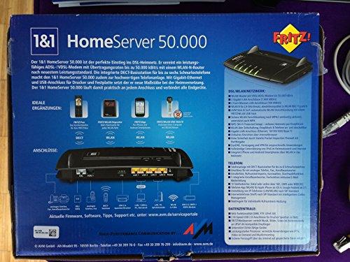 AVM FRITZ!Box 7360 SL Wlan Router 1&1 HomeServer 50.000 (VDSL/ADSL/ADSL2+, DECT-Basis)