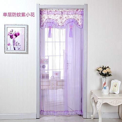 Magnetvorhang Fliegengitter Tür Insektenschutz- Stoffvorhänge Fliegengitter Schlafzimmer Trennwand Stoffvorhänge Vorhänge 90X200cm, grün
