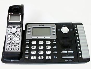 RCA 25252 ViSYS Cordless Expandable Phone/Ans System 2 Lines 1 Handset