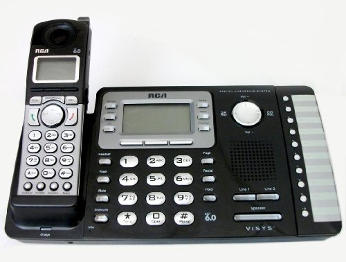 rca corded cordless phones RCA 25252 ViSYS Cordless Expandable Phone/Ans System, 2 Lines, 1 Handset