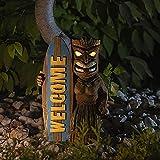 XINMINGREN Gartendeko für außen Figuren lustig Gartenfiguren Gartenzwerge Statuen TierfigurenTotem Surfbrett im Freien Hawaiian Weinglas Totem Garten Gartendekoration Hauptdekoration