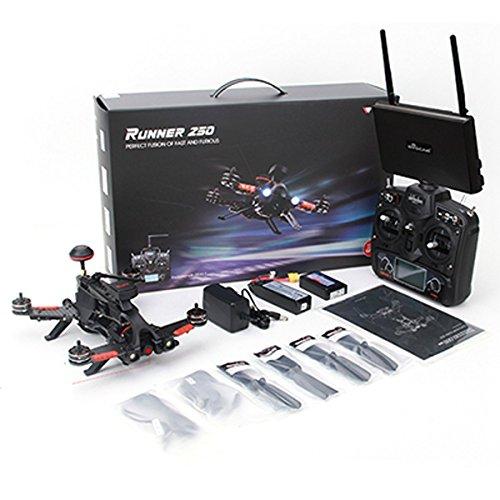 Xiangtat Walkera Runner 250 PRO Quadcopter Drone with Camera 800TVL/ FPV Monitor /OSD/GPS/5.8G Display/ DEVO 7 Transmitter RTF