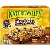 Nature Valley - Barritas de Proteinas con Peanut & Chocolate - Caja de 4 unidades