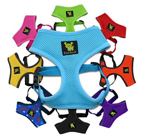 Classic Dog Harness Innovative Mesh No Pull No Choke Design Soft Double Padded Breathable Vest for Eco-Friendly Easy Control Walking Quick Release for Puppies Toy Breeds & Extra-Small Dogs (XS, Blue)