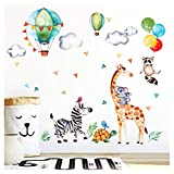 Little Deco Wandaufkleber Safariparty I Wandbild L - 134 x 90 cm (BxH)