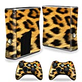 MightySkins Skin Compatible with X-Box 360 Xbox 360 S Console - Cheetah | Protective, Durable, and Unique Vinyl Decal wrap Cover | Easy to Apply, Remove, and Change Styles | Made in The USA