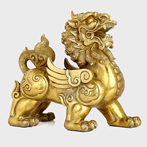 KKJJ Feng Shui Pi Yao/Pi Xiu, Estatua de Prosperidad de Riqueza de Decoración Atracción de Riqueza y Buena Suerte, la Mejor Decoración para la Oficina o el Hogar,Small