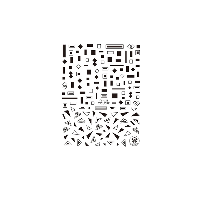 クリアアイロニーコンテンツirogel イロジェル ネイルシール マルチシェイプシール 【CB023?黒】
