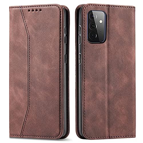CHZHYU Handyhülle für Galaxy A32 4G Hülle,Samsung Galaxy A32 4G Hülle Leder,[Standfunktion][Kartenfach][Magnetisch] Flip Klappbare Stoßfeste Schutzhülle für Samsung Galaxy A32 4G Tasche(Kaffee)