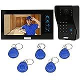 KKmoon Sonnette Vidéo,Visiophone intercom avec 1pcs 1000TVL CCTV Caméra extérieure...