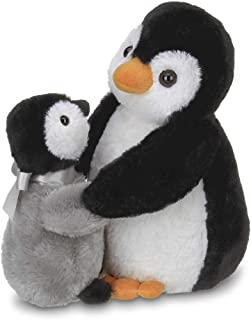 Bearington Wiggles and Wobbles Plush Stuffed Animal Penguin with Baby, 10 inches
