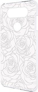 スマホケース ハードケース LG V20 PRO L-01J 用 [型押し風・白いバラ] 花柄 ローズ エルジー ブイトゥエンティ プロ docomo スマホカバー 携帯ケース 携帯カバー bara_00r_h170@01