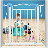 ベビーゲート フェンス ドア付き 金属アジャスタブル赤ちゃんペットの安全ゲート階段ゲート自動近い圧力では、マウント拡張は、背の高い77センチメートル幅が177センチメートルに77から選択することができるスタンド (Color : High77cm, Size : 107-117cm)