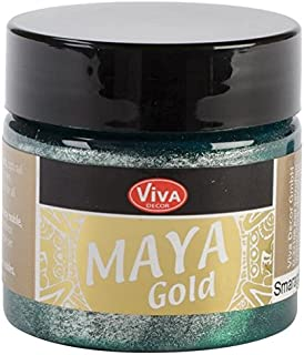 Viva Decor 50 ml Maya Gold Paint, Emerald