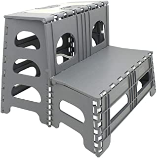 Range Kleen Double Step Gray Folding Stool 19.5 Inches L by 20 Inches W by 17 Inches H