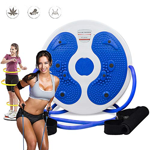 Dance Turn Board Twister, Fitness Twist and Shape Exerciser Twist Board Muscle Stimulator Waist Trainer Weight Loss Slimming Machine Équipement d'exercice pour La Maison,Bleu