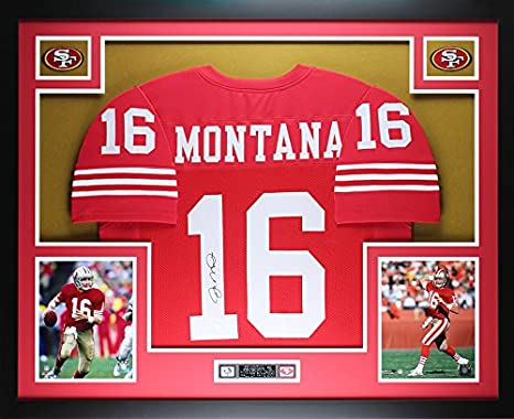 Amazon.com: Joe Montana Autographed Red Jersey - Beautifully ...