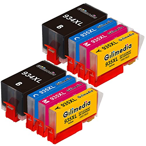 Gilimedia 934 935 - Cartuchos de tinta compatibles para HP Officejet Pro 6230 6830 6835 6220 6812 6815 6820 (1 negro, 1 cian, 1 magenta y 1 amarillo)