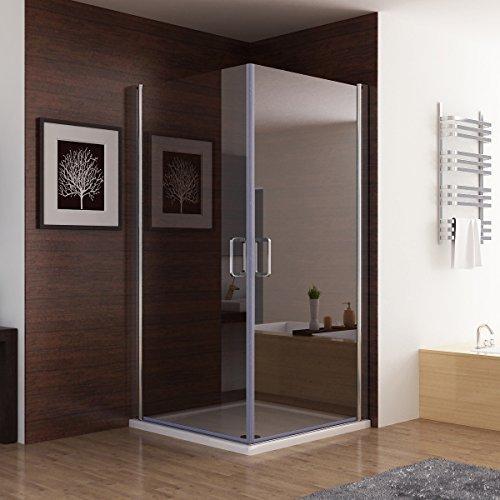 Duschkabine Dusche Duschwand 180° Schwingtür Eckeinstieg NANO Glas 100 x 100 x 195cm