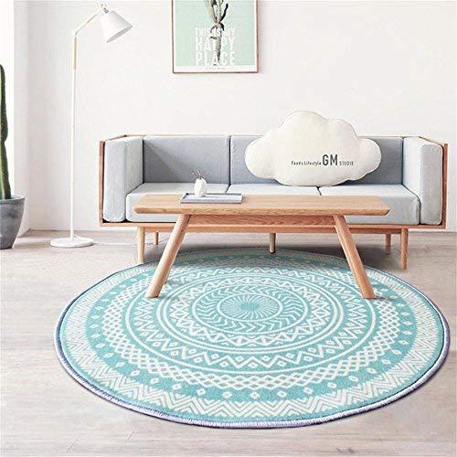 YOCASA Runder Teppich, Computer Stuhl Kissen drehstuhl pad, Schlafzimmer Nacht teetisch Sofa Yoga rutschfeste Matte Wohnzimmer Krabbeln Matte (größe: 200 cm)