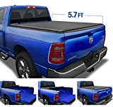 Tyger Auto T1 Soft Roll Up Truck Bed Tonneau Cover for 2019-2020 Ram 1500 New Body Style | 5.7' Bed | Not for Classic | Does Not Fit with Multi-Function (Split) Tailgate or RamBox | TG-BC1D9046